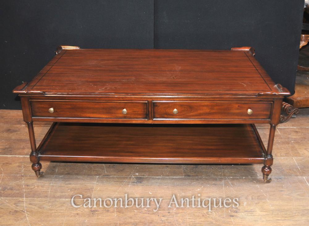Regency Table basse dans les tableaux Acajou English Meubles
