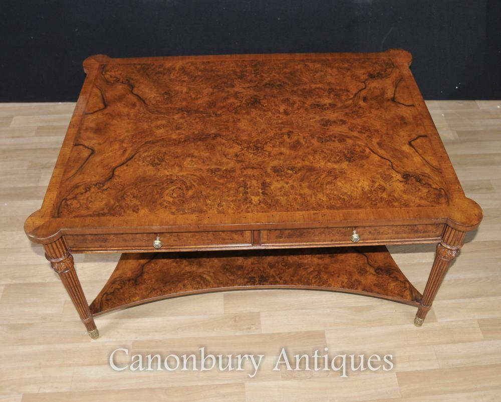 Regency Walnut Coffee Table Partenaires Tables English Meubles