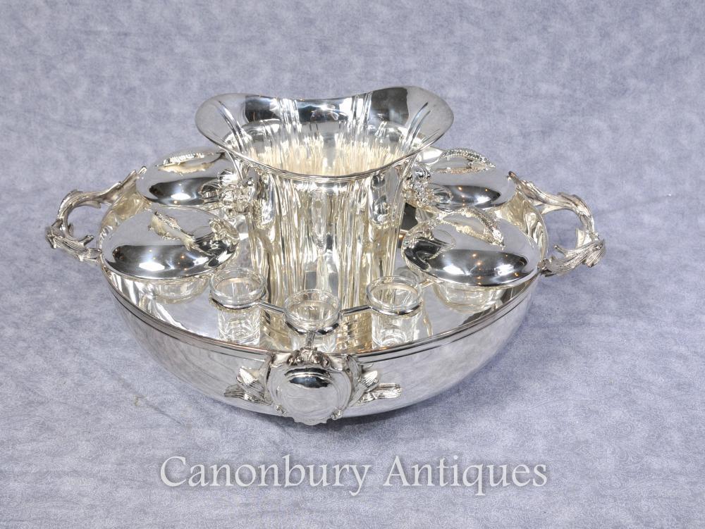 Silver Plate russe Caviar Vodka serveur plaqué Bowl