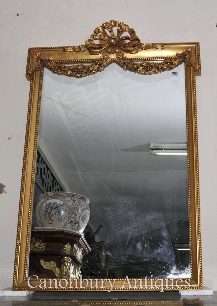 Anglais Adams Gilt Pier Miroir Regency Classique Miroirs