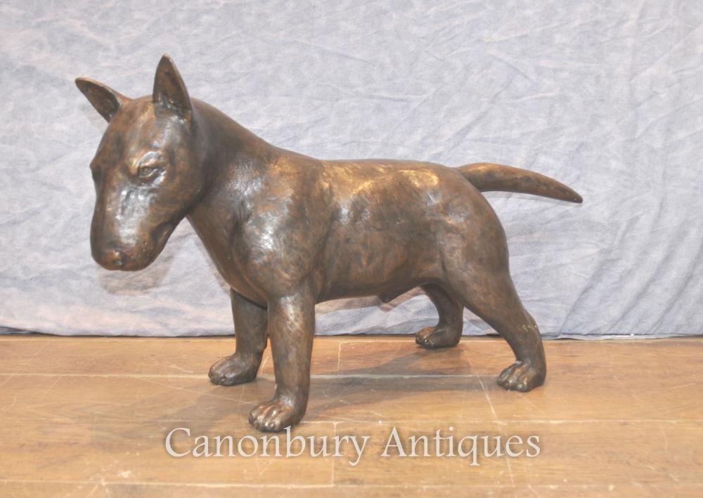 Bronze Bull Terrier Dog Statue Casting