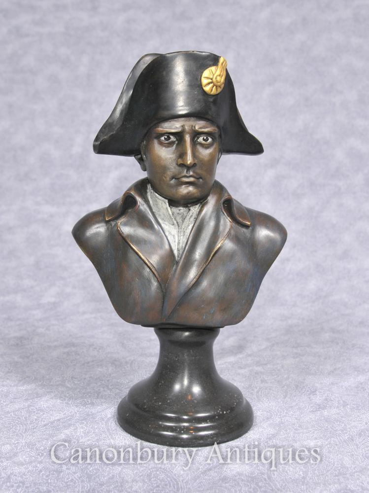 Français Bronze Buste Empereur Napoléon I Bonaparte Militaire