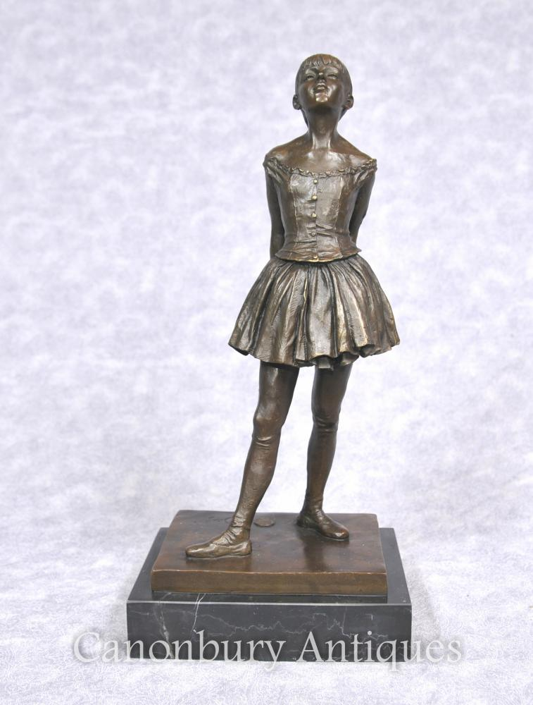 Francès Bronze Estàtua del ballarí de ballet de la ballarina de Degas