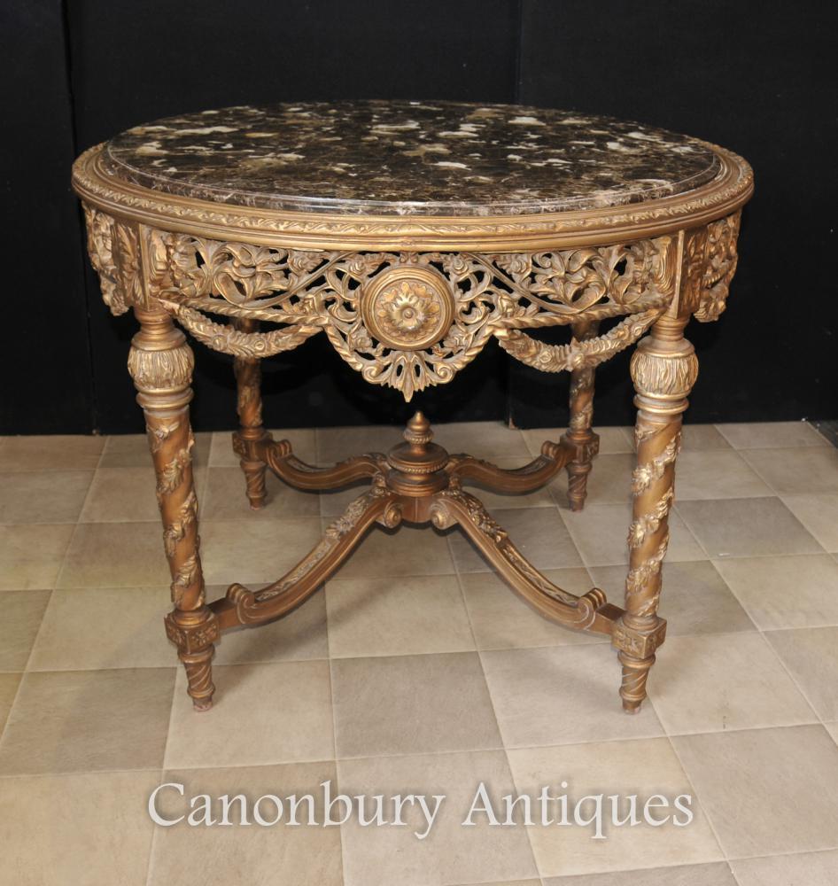 Francès imperi de talla daurada centre de taula del centre Taules de menjador
