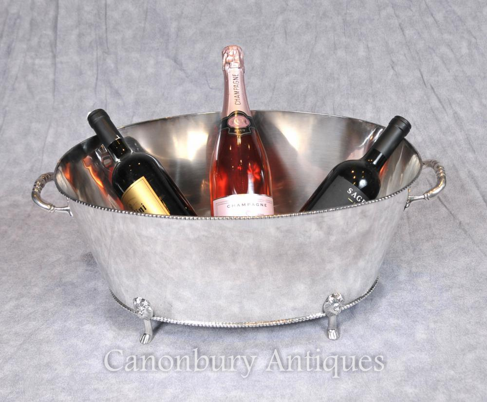George III Silver Champagne seau refroidisseur à vin le semoir