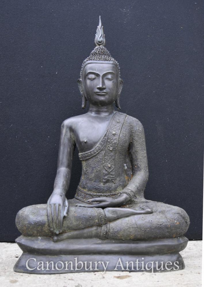 Gran tibetà de bronze de Buda Estàtua budista Art Mediti Dhyanasana