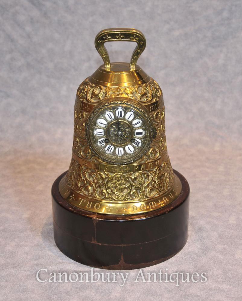 Horloge à pendulette en laiton antique antique 19ème siècle