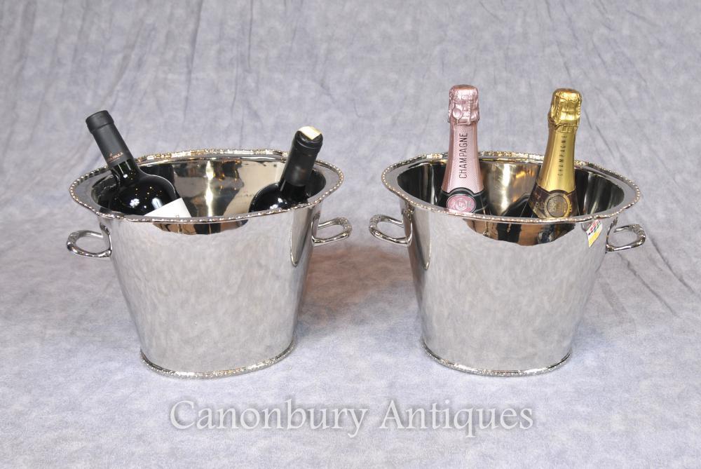 Paire de couvercles à champagne victorienne
