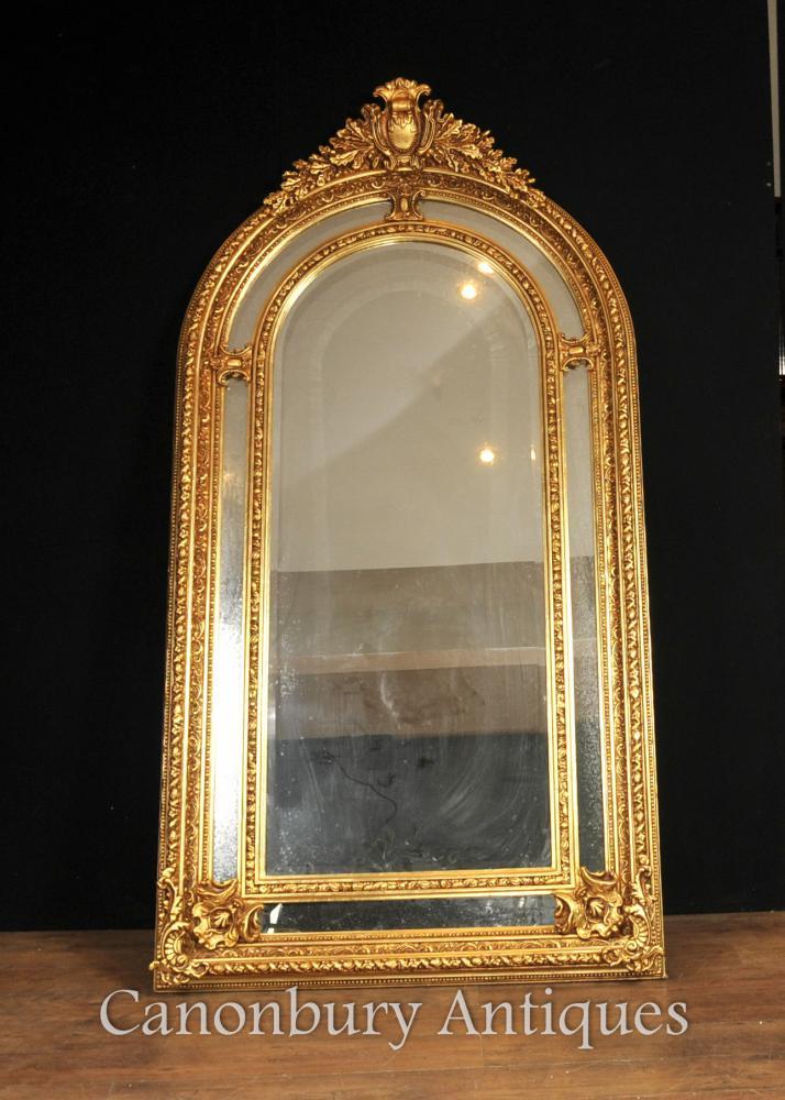 Tall Regency Gilt Pier Mirror Miroirs en verre anglais