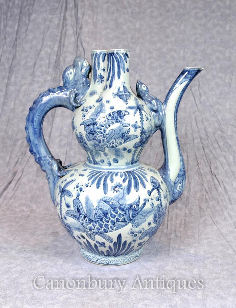 Vase en porcelaine chinoise bleue et blanche Vase Kangxi