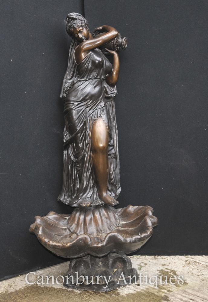XL Bronze Italien Fontaine Maiden Fontaine