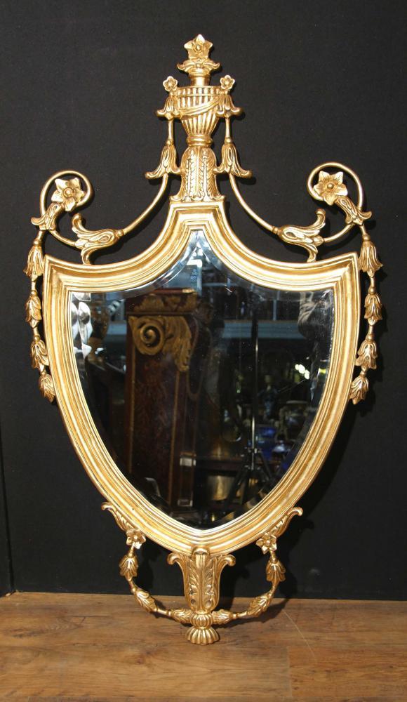 Anglais Adams Gilt Pier Mirror Verre Regency Miroirs