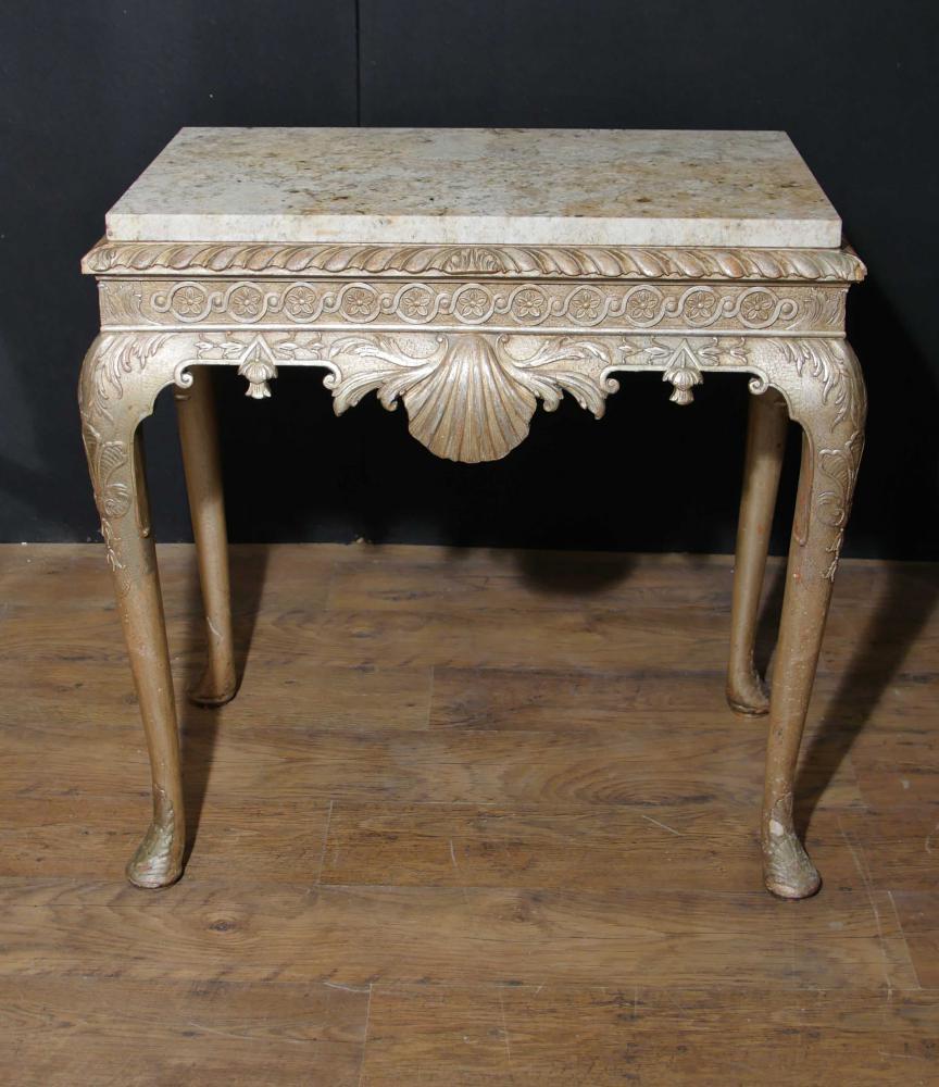 Antique George I Table console Argent doré Meubles anglais