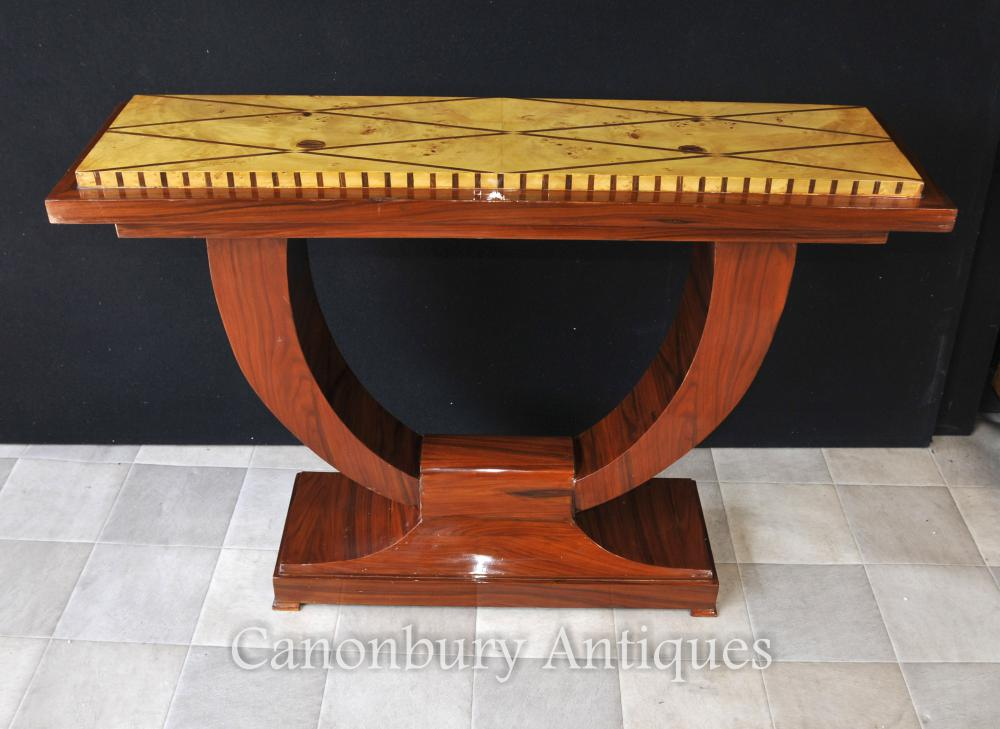 Art Déco Ogee Palissandre Table console Table Tables