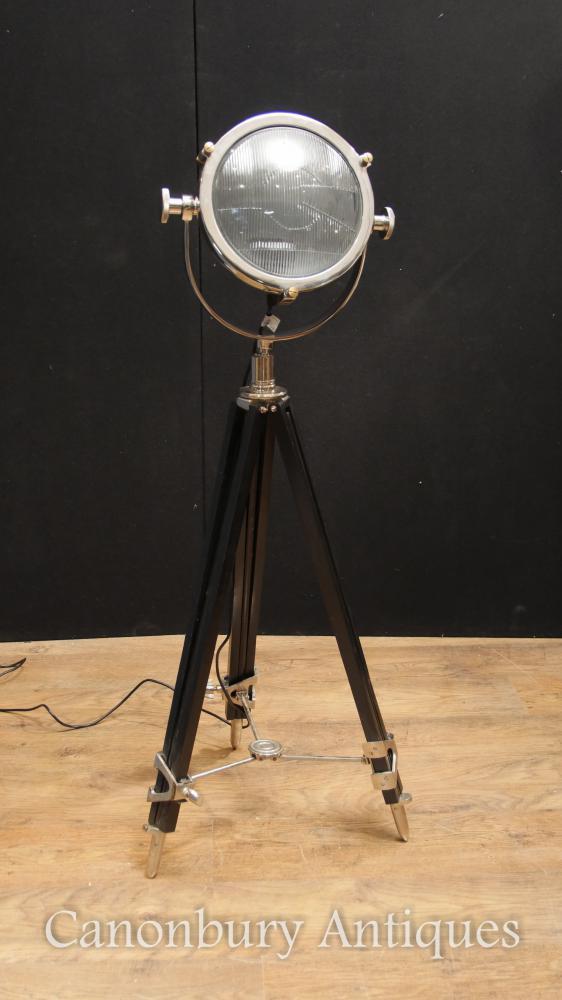 Lampe de studio Tripod Chrome Lampe de plancher architecturale