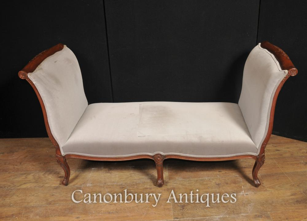 Lit de jour la table Regency Chaise en acajou Loungue