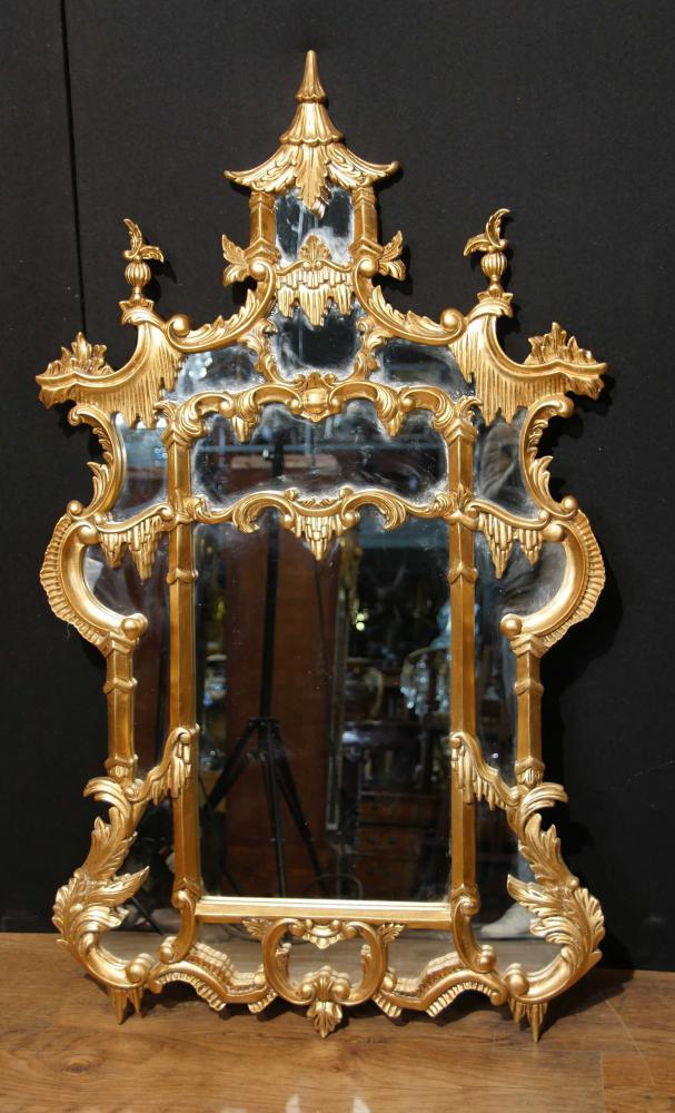 Miroir en bois doré Chippendale Chinois Anglais Interiors