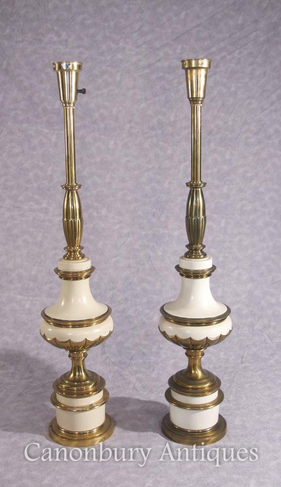 Paire de Lampes en Porcelaine Empire Français