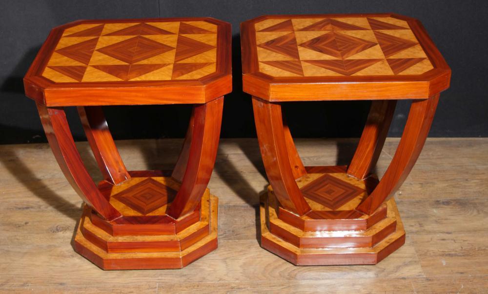 Paire de tables d'appoint Art Déco Ingrédient Lozenge