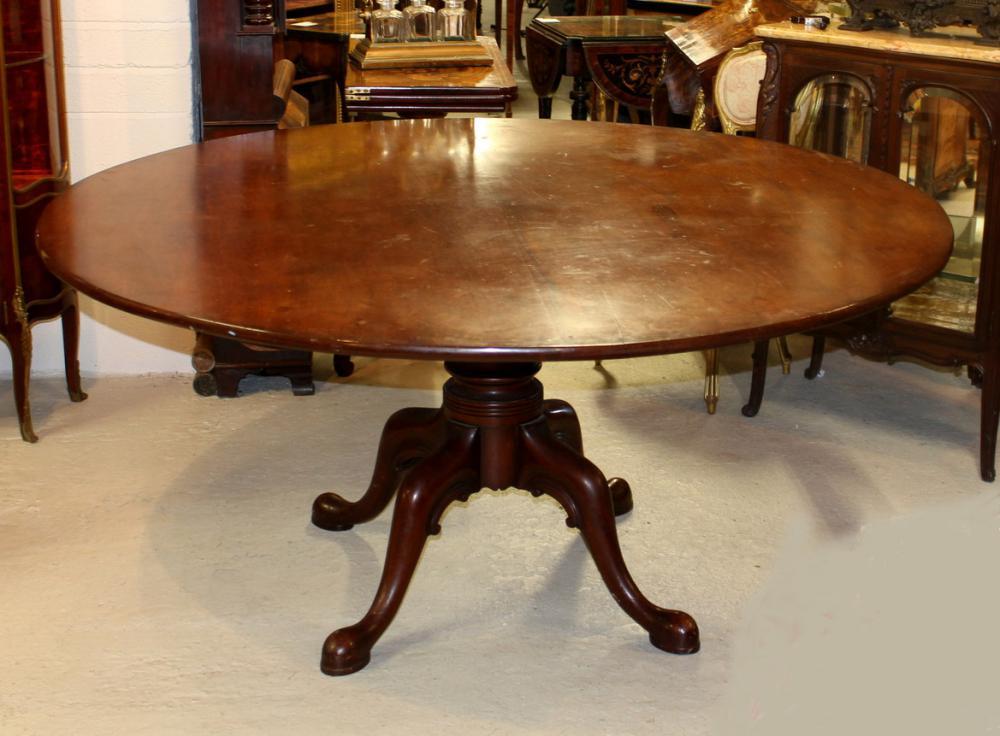 Table de salle à manger en acajou géorgienne ronde