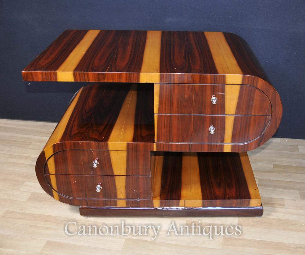 Art déco en forme de S Table basse 1920s Intérieur