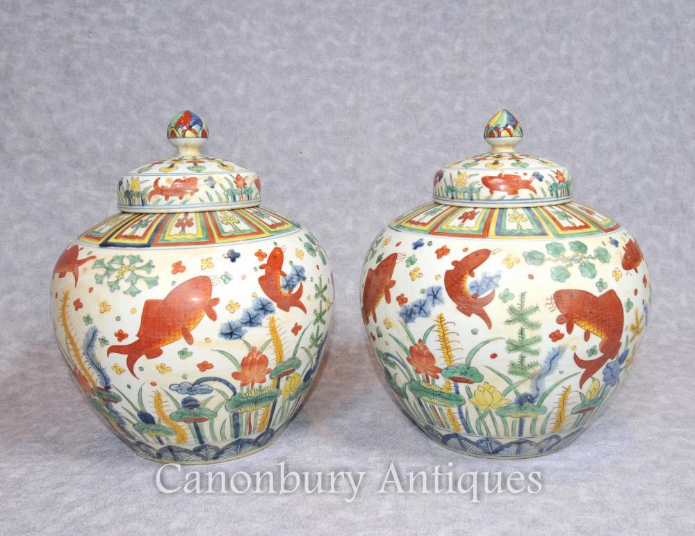 Paire de porcelaine en porcelaine chinoise