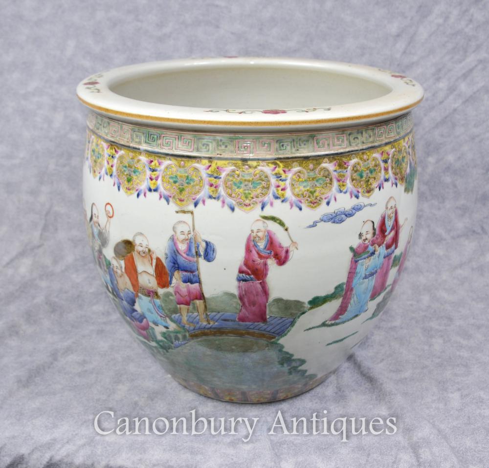 Qianlong Bol en porcelaine chinoise du semoir peint à la main