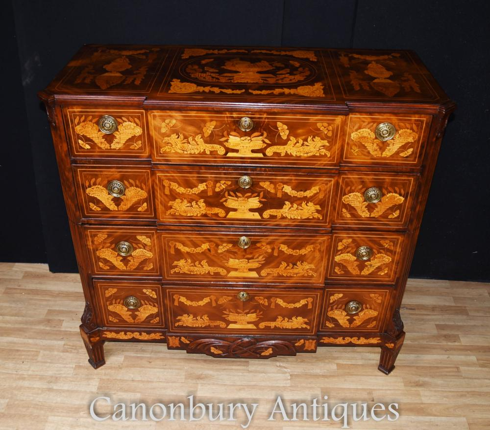 Coffres de Commode marqueterie hollandaise antique commode 1840