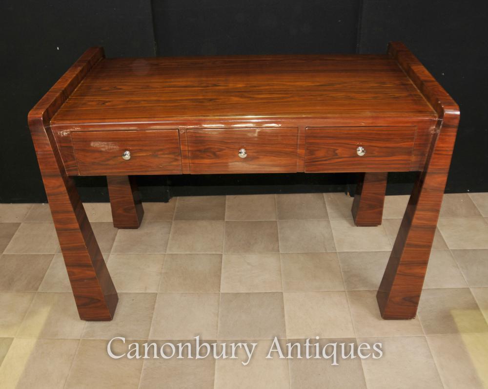 Table en palissandre Art déco Bureau années 1920 écrit de mobilier de bureau