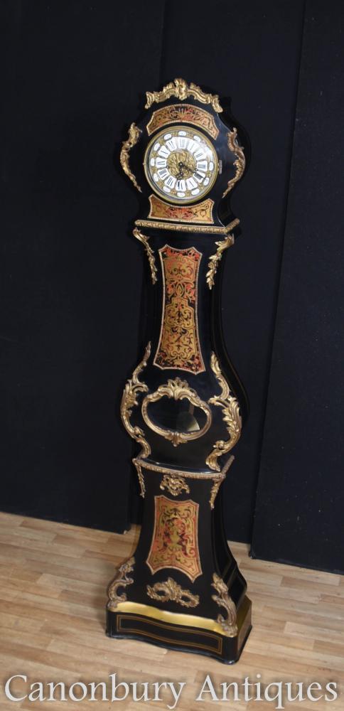 Travail Français Boulle et laque longue affaire horloge