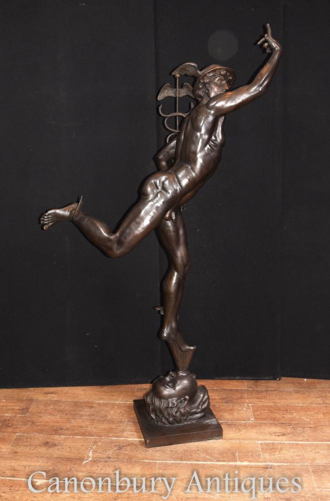 XL Bronze italien Statue en mercure Fonte Hermes par Giambologna