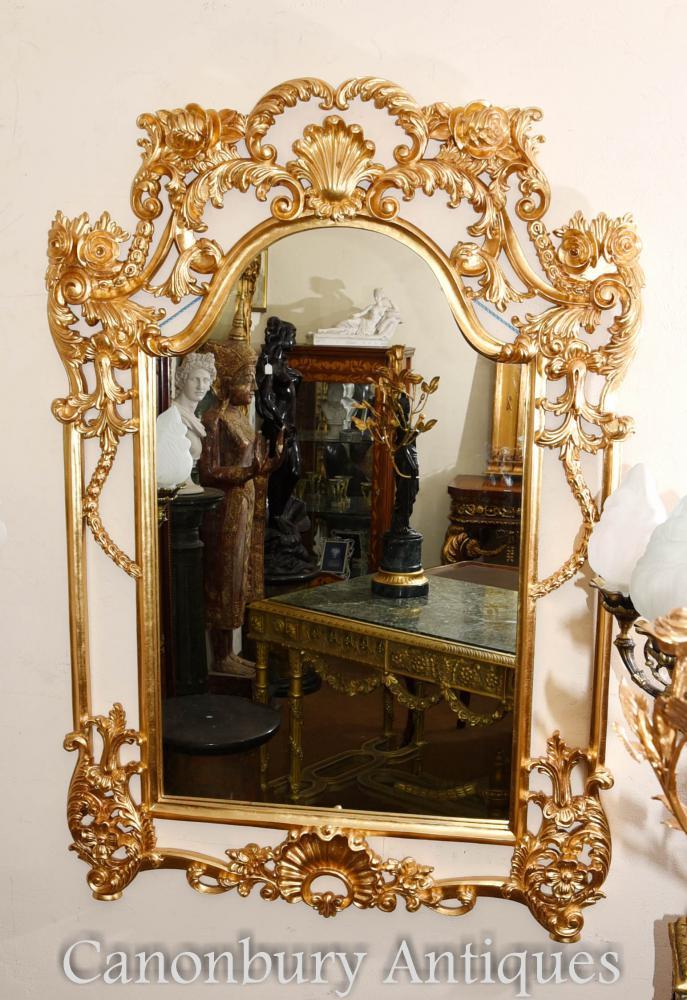 Anglais George II Miroir Gilt Pier Miroirs Rococo