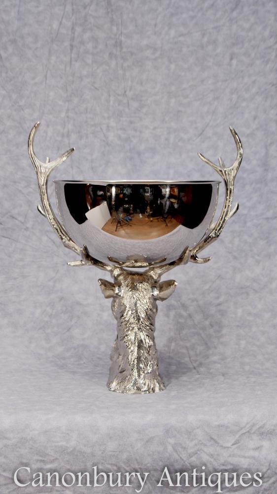 Silver plate cerf bol vin Champagne seau refroidisseur