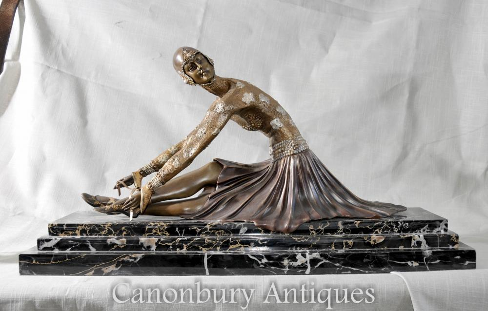 Art Deco bronze jeune danseur sculpture statue figurine Chiparus