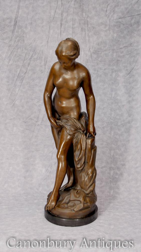Bronze clàssic Nude Lady Estàtua femenina Estàtua signada