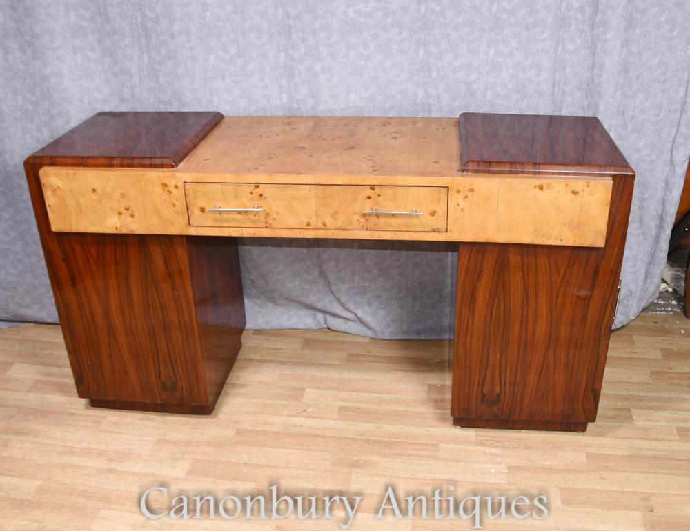 Bureau art d co meuble de table d 39 criture en noyer rosewood for Entreposage de meuble