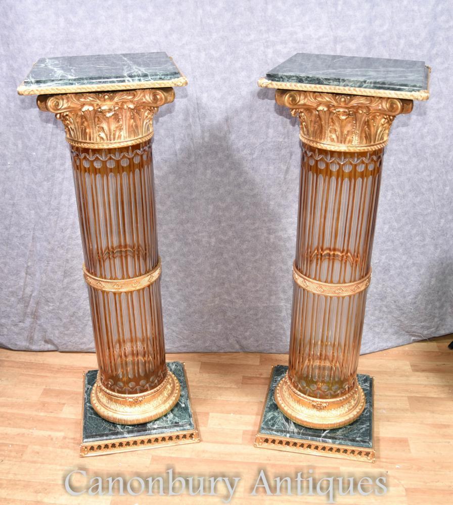 Cuillère à poire Coupe en Corinthien Colonne Table de chevet Table de l'Empire français