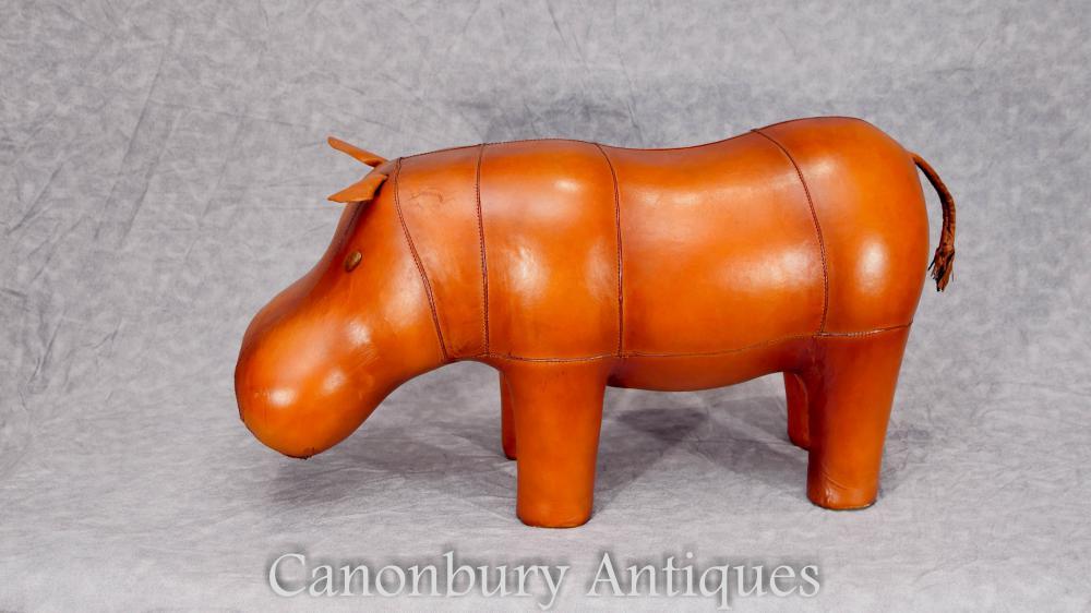 Estàtua de cuir Hippo Estany de peu Disseny interior Hipopòtam
