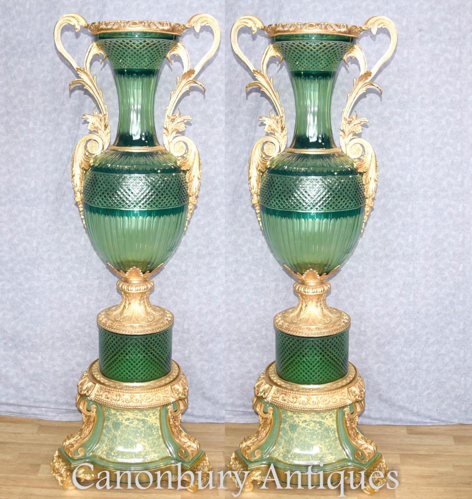 Paire XL Verres en verre à la coupe Verre Amphores Urnes Intérieurs français