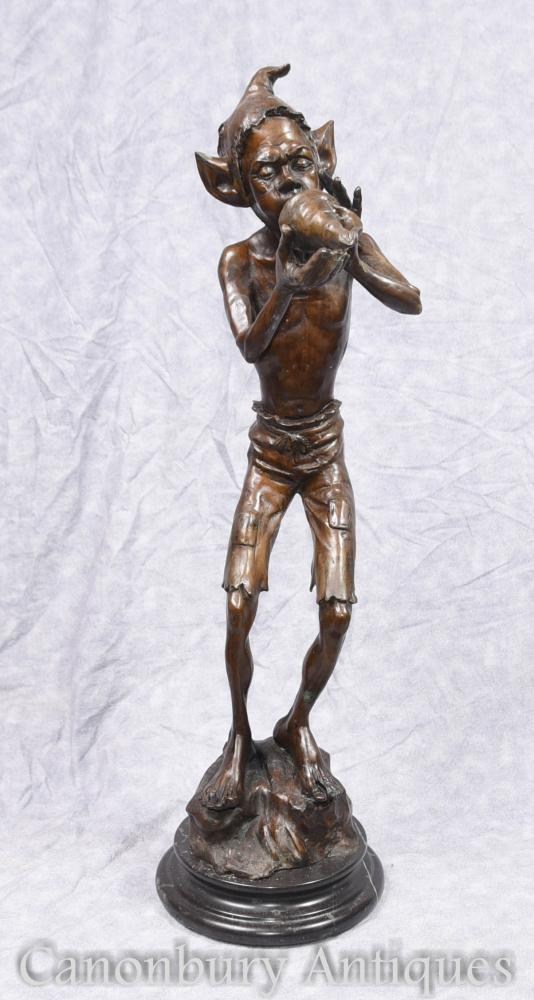 Statue en bronze Statue en bronze Conque Fairey Pixies