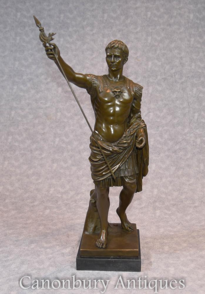 Statue en bronze italienne L'empereur romain Jules César