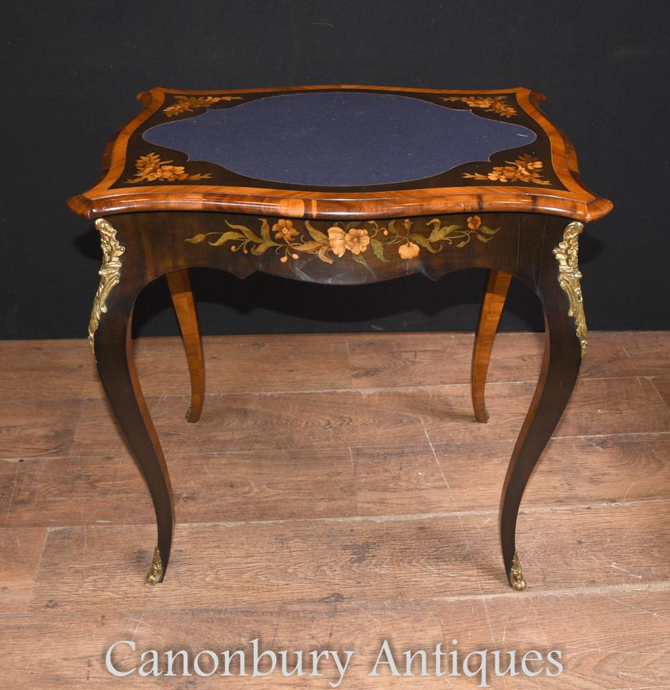 Tables Antique Antique Empire Tables Floral Marquetry Interiors