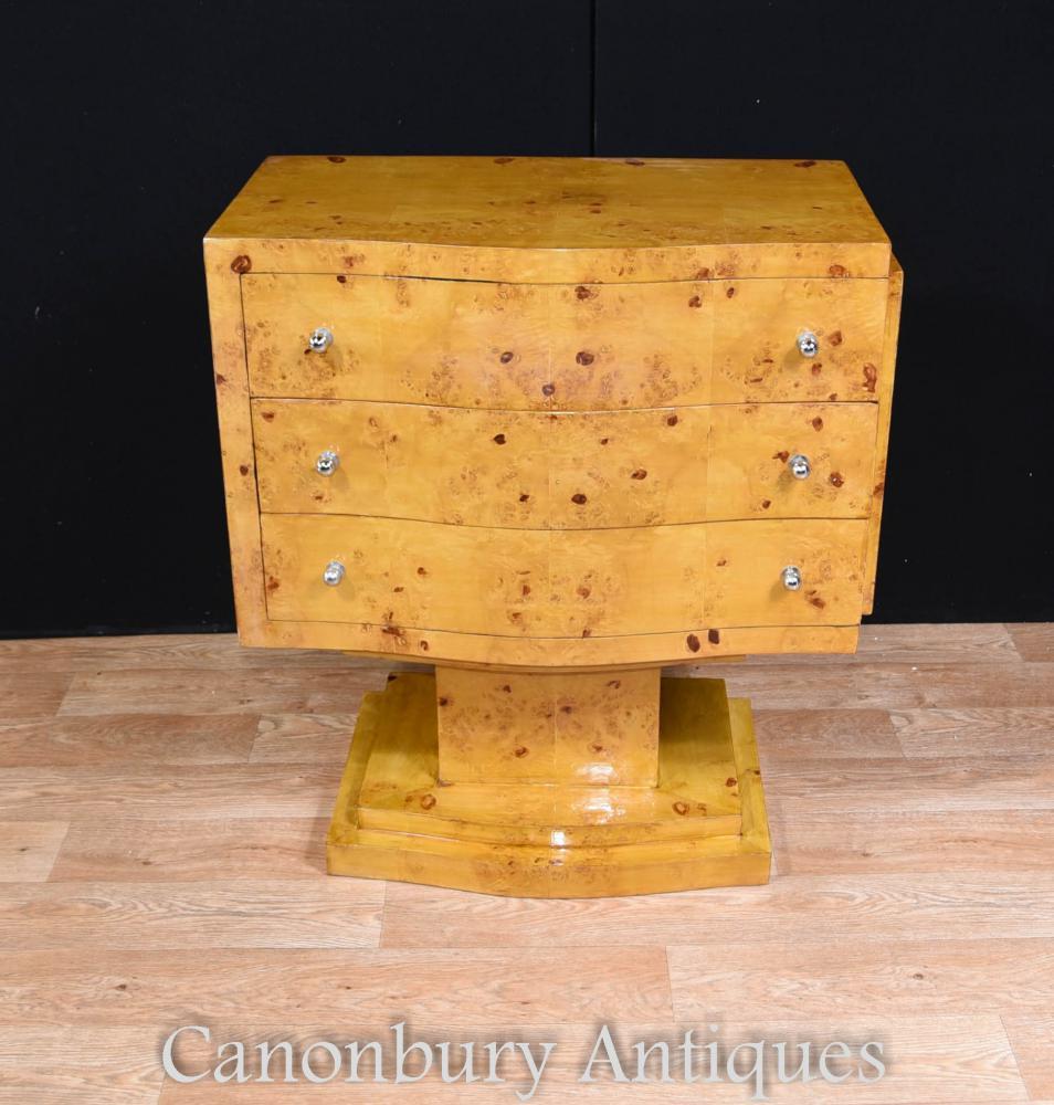 Art Déco Cabinet Cabinet Cabinet Blonde Noyer