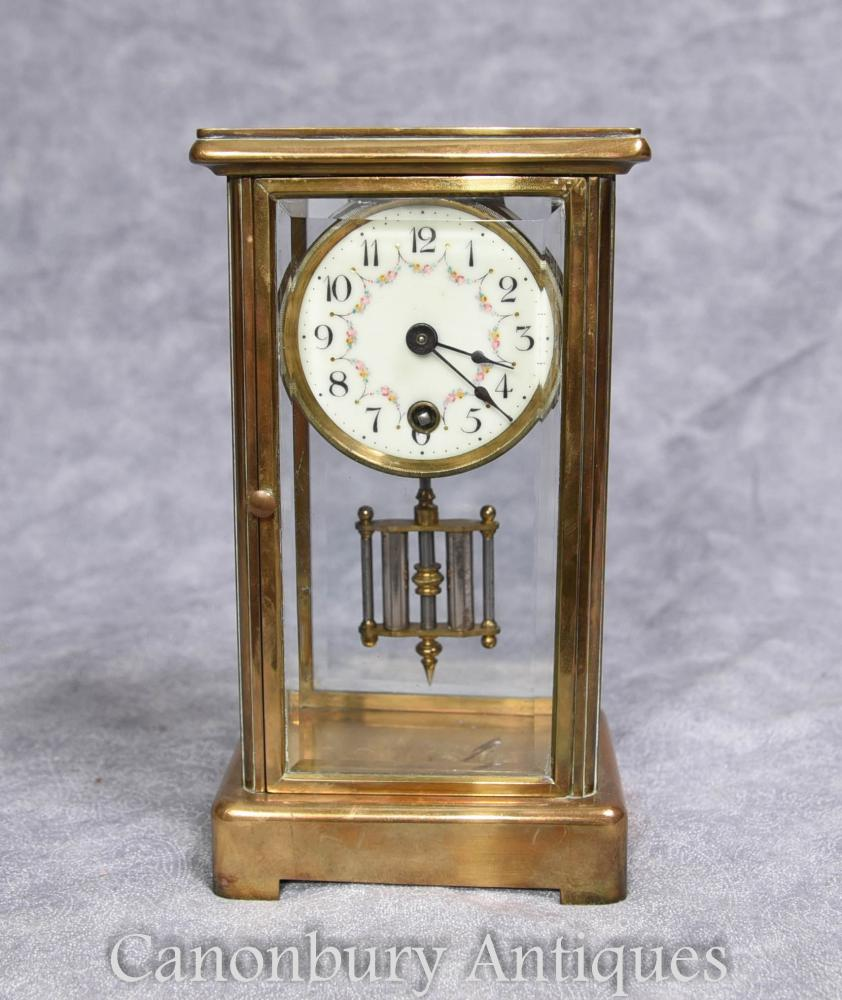 Art Déco Français Antique Brass Carriage Clock 1930s Antique