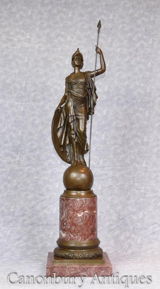 Grande statue en bronze Statue Britannia Roman Briton Casting