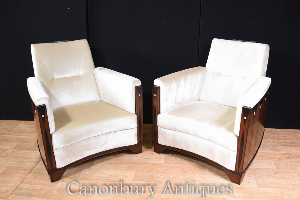 Paire de fauteuils de style Art Déco