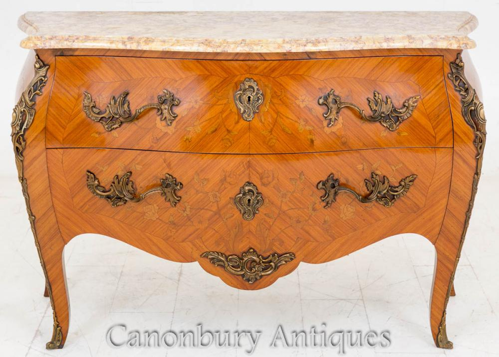Commode française de style Bombe Commode Antique 1880