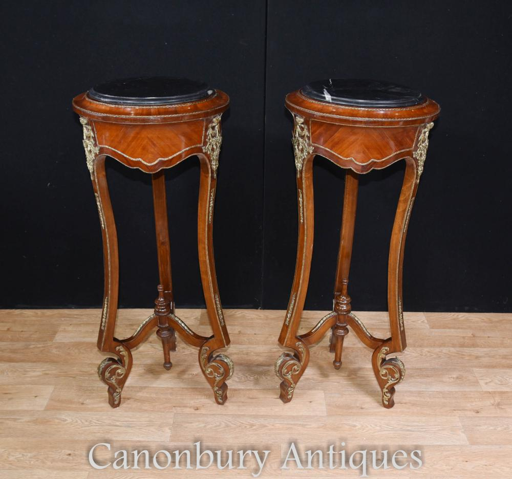 Pair French Empire Pedestal Side Side Kingwood