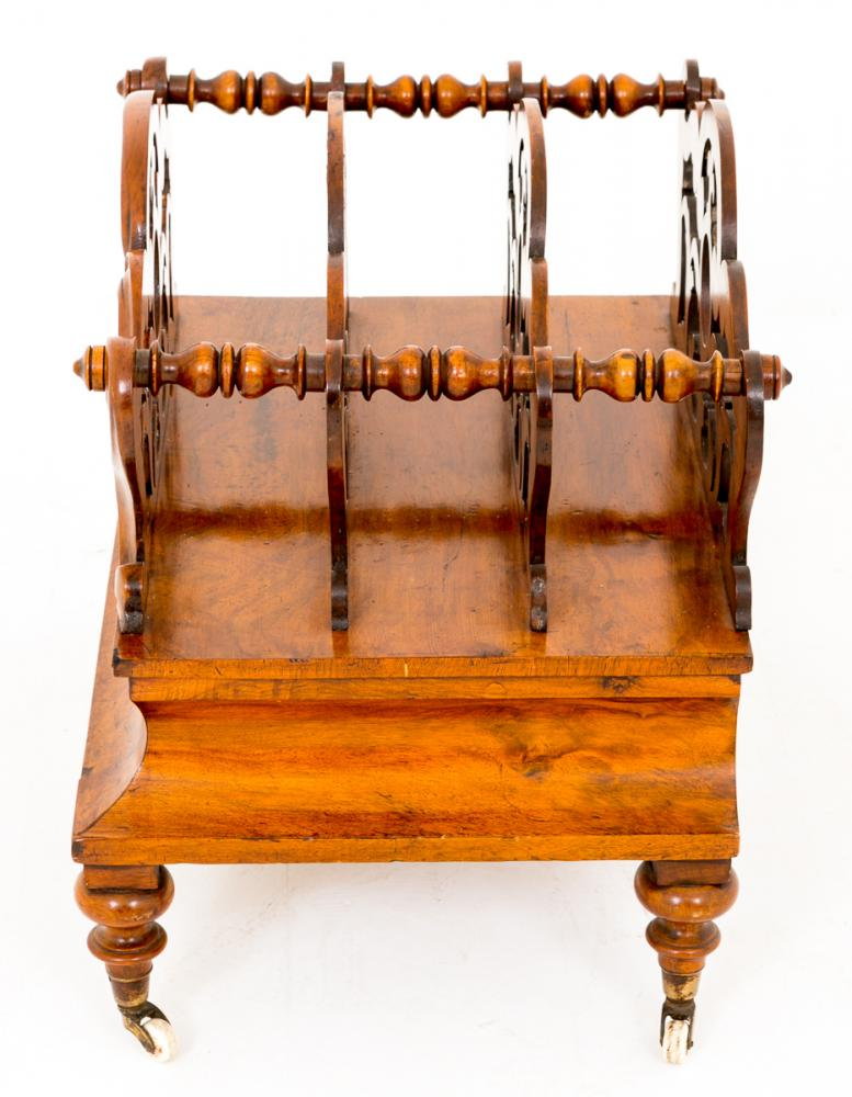 Antique Rack Burr Walnut Canterbury