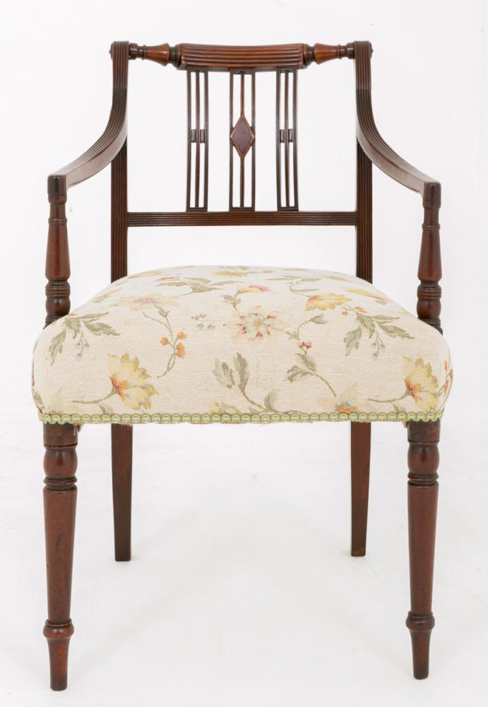 Chaises de bureau à chaise de bureau en acajou William IV anciennes